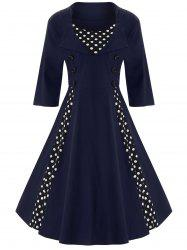 Une ligne Polka Dot Plus Size Dress