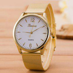 Metallic Mesh Strap Analog Watch