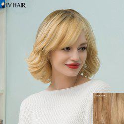 Siv Cheveux mi Tail Upwards Bob perruque de cheveux humains - 18/613 Blonde