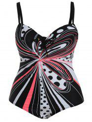 Plus Size Cut Out One-Piece Swimwear