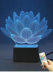 Remote Control 3D Visual Aloe Plant 10 Color Changing Night Light - TRANSPARENT