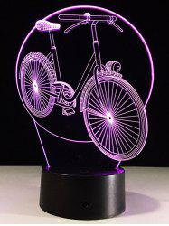 Table Decor 3D Bike Shaped Color Change LED Night Light