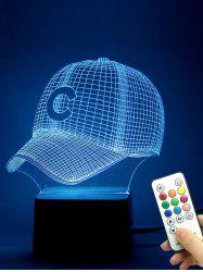 3D Baseball Cap Color Change LED Night Light Best Gift