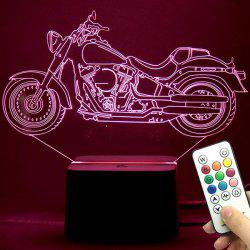 3D Motorcycle LED Color Change Night Light Best Gift - TRANSPARENT