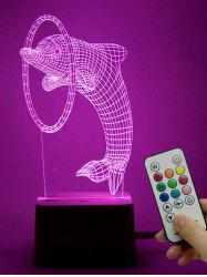 Room Atmosphere 3D LED Dolphin Color Change Night Light