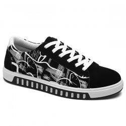 Tie Up Line Printed Casual Shoes