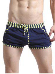 Lace Up Striped Edging Design Home Shorts
