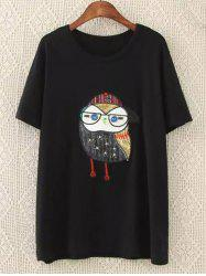 Beaded Patched Plus Size Tee