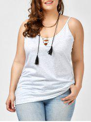 Plus Size Caged Cami Tank Top -