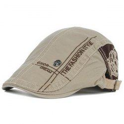 Skull and Embroidery Embellished Jeff Cap - LIGHT KHAKI