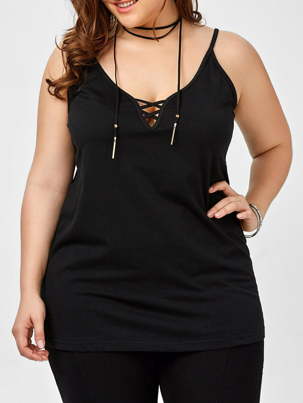 6f97dcbce3c4b 2019 Plus Size Caged Cami Tank Top