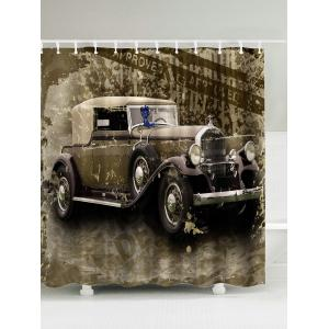 Vintage Car Polyester Waterproof Shower Curtain - Brown - 180*180cm