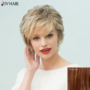 Siv Hair Short Layered Side Bang Human Hair Wig
