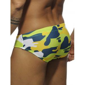 Drawstring Camo Natation Briefs -