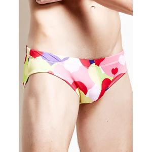 Coeur Printed Drawstring Swim Briefs -