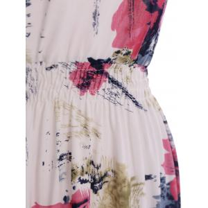 Oil Painting Floral Stretch Waist Sundress -