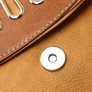 Metal Detail Colour Block Crossbody Bag -