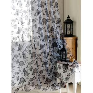 2Pcs/Set Rose Sheer Tulle Fabric Curtain For Bedroom -