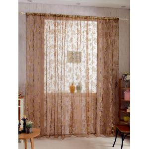 2Pcs/Set Rose Sheer Tulle Fabric Curtain For Bedroom