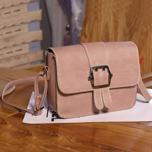Buckle Strap Cross Body Flap Bag -