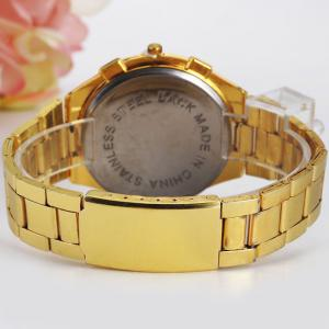 Alloy Strap Analog Wrist Quartz Watch -