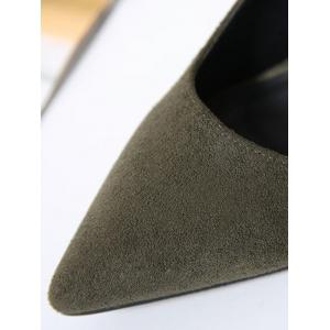 Hollow Out Pointy Pumps -