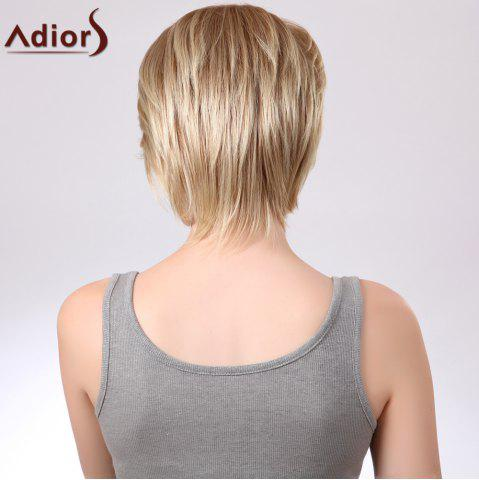 Best Adiors Short Layered Straight Side Bang Capless Synthetic Wig - COLORMIX  Mobile
