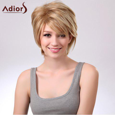 Fancy Adiors Short Layered Straight Side Bang Capless Synthetic Wig - COLORMIX  Mobile