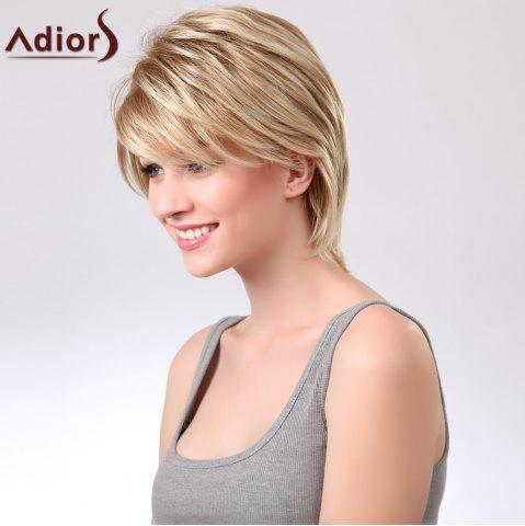Hot Adiors Short Layered Straight Side Bang Capless Synthetic Wig - COLORMIX  Mobile