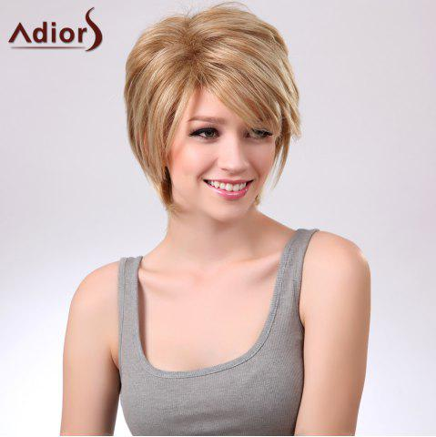 Store Adiors Short Layered Straight Side Bang Capless Synthetic Wig - COLORMIX  Mobile