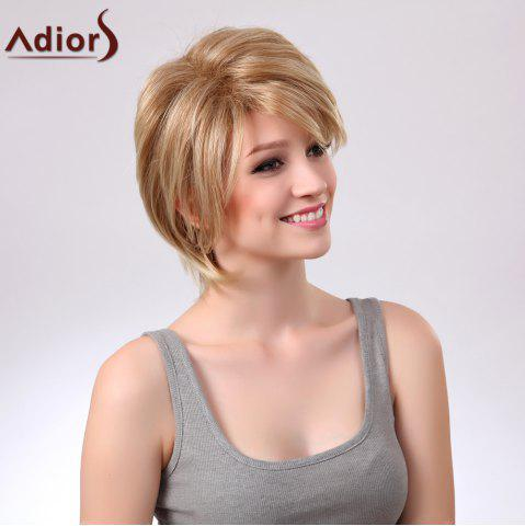 Buy Adiors Short Layered Straight Side Bang Capless Synthetic Wig - COLORMIX  Mobile