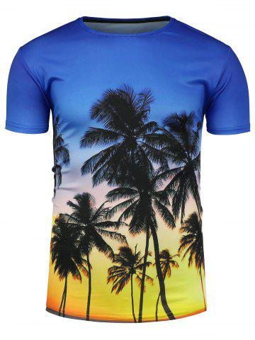 Best Crew Neck 3D Coconut Tree Hawaiian T-Shirt