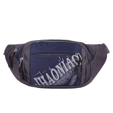 Store Multifunction Waterproof Waist Bag - PURPLISH BLUE  Mobile