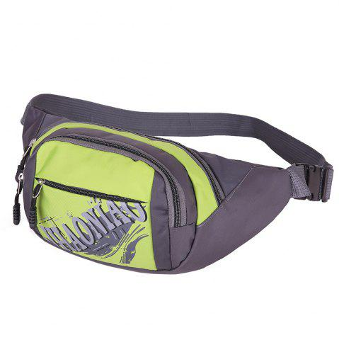 Outfits Multifunction Waterproof Waist Bag - PISTACHIO  Mobile