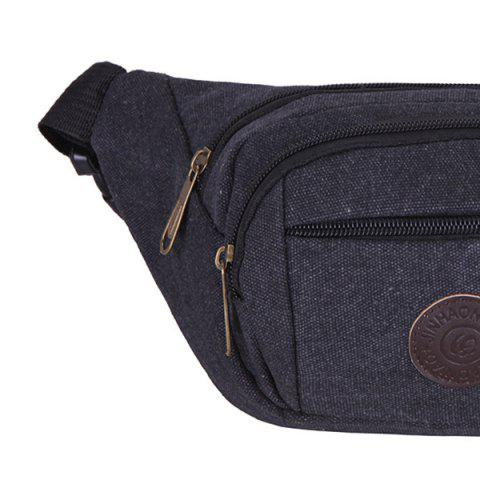 Buy Sports Multifunctional Canvas Waist Bag - BLACK  Mobile