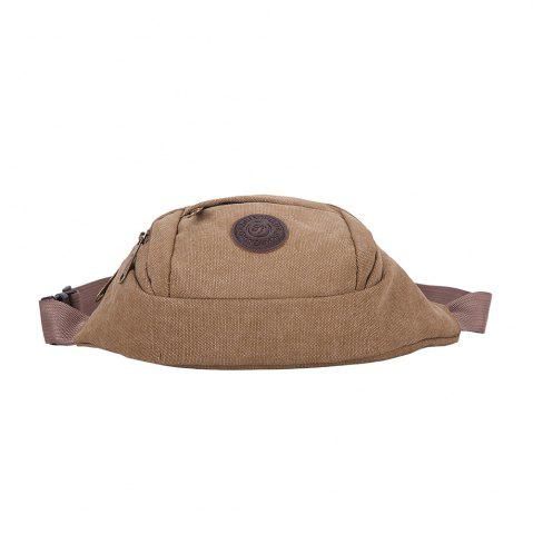Outfit Sports Multifunctional Canvas Waist Bag - BROWN  Mobile
