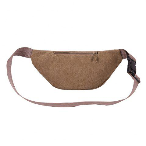 Store Sports Multifunctional Canvas Waist Bag - BROWN  Mobile