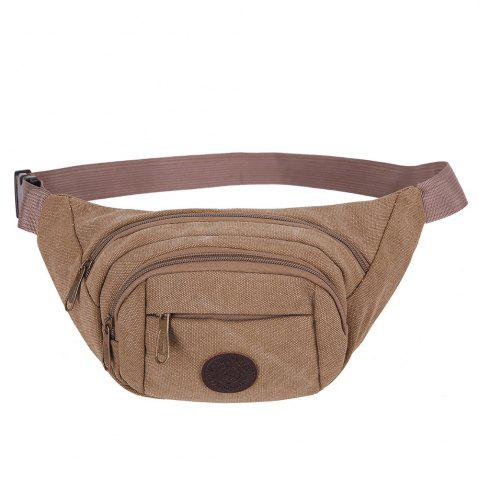 Fancy Sports Multifunctional Canvas Waist Bag BROWN