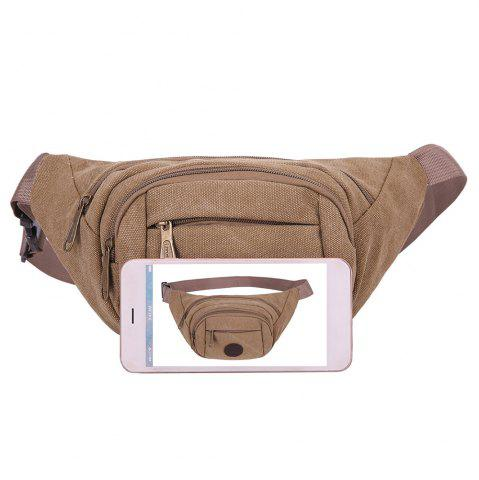 Buy Sports Multifunctional Canvas Waist Bag - BROWN  Mobile