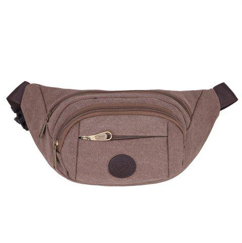 Store Sports Multifunctional Canvas Waist Bag - DARK AUBURN  Mobile