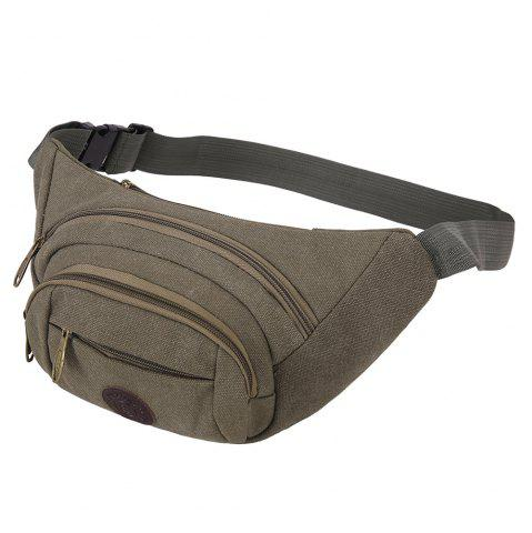 Outfit Sports Multifunctional Canvas Waist Bag - GREEN GREY  Mobile