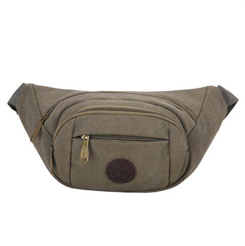Sports Multifunctional Canvas Waist Bag - Green Grey - 40