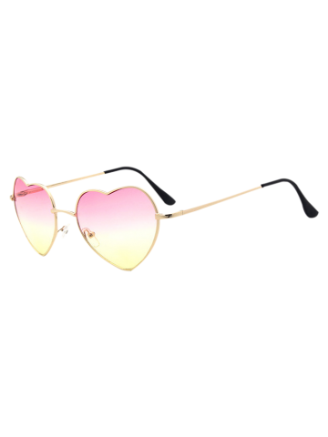 Outfit Heart Shape Gradient Sunglasses - PINK  Mobile
