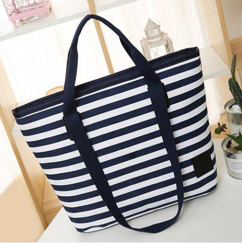 Chic Casual Canvas Stripes Shoulder Bag