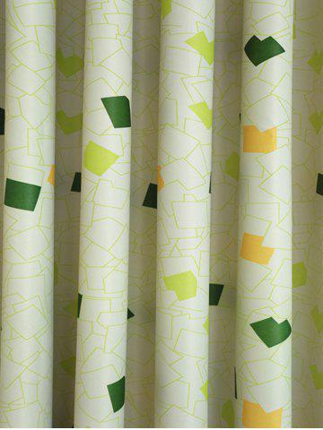 Sale Window Shading Grommet Top Blackout Curtain - 100*250CM YELLOW GREEN Mobile