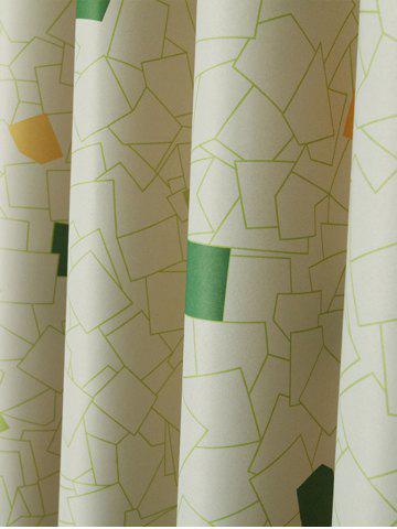 Online Window Shading Grommet Top Blackout Curtain - 100*250CM YELLOW GREEN Mobile