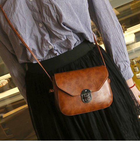 Store Metal Detail Cross Body Flap Bag LIGHT BROWN