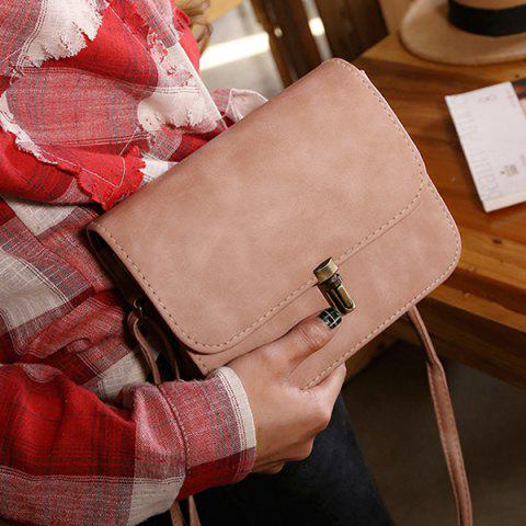 Buy Stitching Cross Body Flap Bag - PINK  Mobile