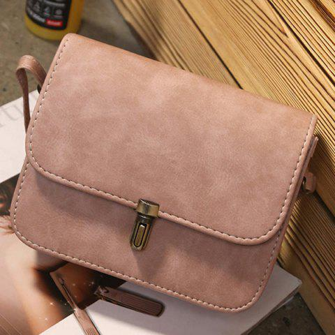 Discount Stitching Cross Body Flap Bag - PINK  Mobile