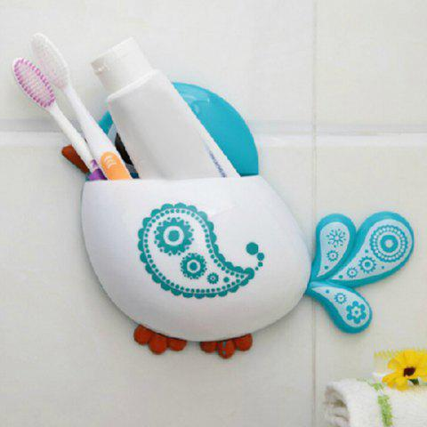 Outfits Cartoon Bird Wall Suction Toothbrush Holder - BLUE  Mobile